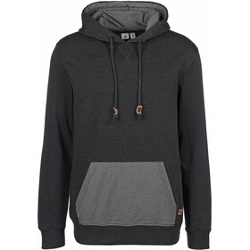 tentree Renfrew Hoodie Men meteorite black/woodgrain all over print black
